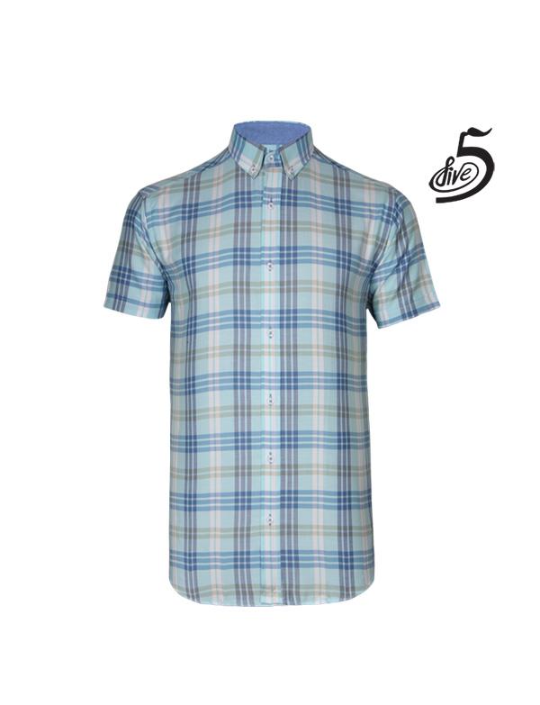 پیراهن آستین کوتاه مردانه فایو کد 11041996